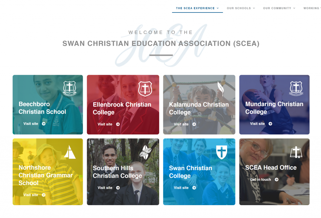SCEA Site home page
